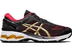 Asics womens running shoes Gel Kayano 26 Black pure gold10.