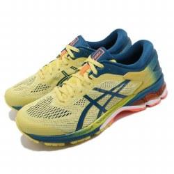 Asics Mens Running Shoes Kayano 26 Sour Yuzu Mako Blue08.0