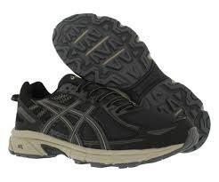 Asics Gel Venture 6 Mens Trail Running Shoes Black Dark Grey  Feather Grey08.0