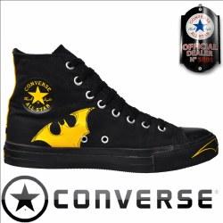 Converse All Star Hi Tops Batman Blk Blk Yellow04.0
