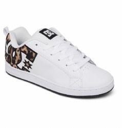 DC  Womens Court Graffik white Leopard08.5