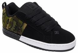 DC Mens Skate Shoe Court Graffik SQ. Black Camo11.0