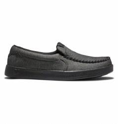 DC Villian 2 Slip On Skate Shoes Charcoal Heather Classic DC07.0