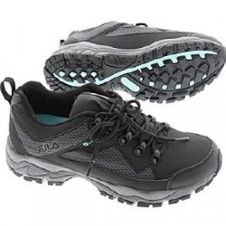 Fila Switchback 2 Black Grey Mint Womens waterproof trail shoes06.0