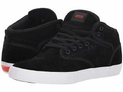 Globe Motley Mid Black Suede Padded Tongue Breathable slip resisitant lining , seamless toe, durable. stylish skate style09.5