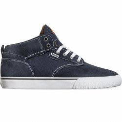 be Motley Mid Midnight White Hi Top Skate Shoes Classic Globe Style09.0