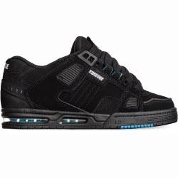 Globe Sabre Black Blue Ultimate Skate Shoe With step in sock liner 09.0