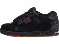 Globe Sabre Black Charcoal Red Classic globe skate shoe 09.0