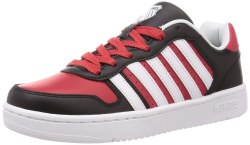 Kswiss Court Palisades Black Red White Classic Kswiss Style09.5