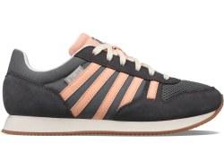 Kswiss Granada Womens Retro Running Shoes Charcoal Peach06.0