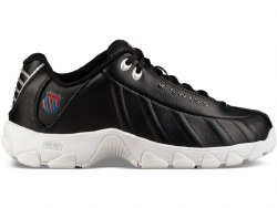 Kswiss Mens ST329 Black white ribbon red  08.