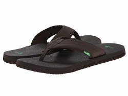 Sanuk Beer Cozy 2 Dark Brown Flip Flop. Name Brands , Low Prices , Quality shoes. Classic flip flops from Sanuk07.0