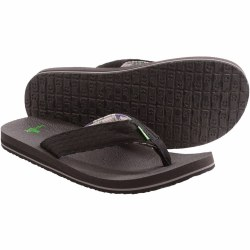 Sanuk Burm Brown Flip Flop . Name Brands , Low Prices , Quality Shoes. Classic Flip Flops From Sanuk07.0