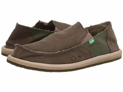 Sanuk Vagabond Hemp Dark Olive Green. Name Brands , Low Prices , Classic Slip On Styles.09.0
