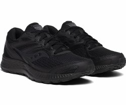 Saucony Cohesion 13 Black Slip Resistant running shoes comfortable running and durable rubber outsoles09.0