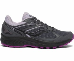 Saucony Womens Cohesion TR 14 Charcoal Lilac Trail Running 06.0