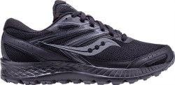 Saucony Mens Cohesion TR13 Black Grey In Wide width , Trail Running shoes 08.0
