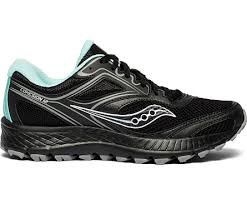 Saucony Womens Cohesion TR12 Black Teal Wide width  06.