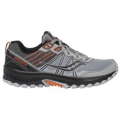 Saucony Excursion TR 14 Grey Black Orange Mens Trail Running Shoes 09.5