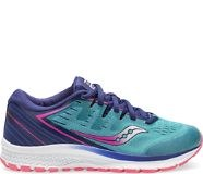 Saucony Girls Guide Iso 2  Teal Pink  2.5