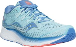 Saucony Womens  Ride ISO 2 Blue Coral Running Shoes 07.0