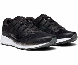 Saucony Ride ISO Black Womens the newly added ISOFIT and FORMFIT technologies allow the shoe to adapt to different foot shapes and provide a personal fit. 08.0