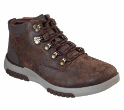 Skechers Bellinger Regano Casual shoe boot smooth oiled leather , rounded plain toe front , air cooled memory foam for comfort.07.5