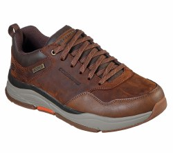Skechers Benago Hombr Brown Waterproof relaxed fit rugged 08.5