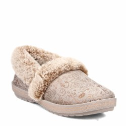 Skechers Bobs Faux Fur Lined Shoes Paws 2 Pawty Taupe07.0