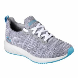 Skechers Candent Grey Aqua Womens Running Shoes 08.0