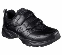 Skechers Mens Casspi 2 Strap Velco Walking Shoes Wide Black 58536/BBK . 08.0