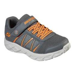 Skechers Dynamic Flash Charcoal Orange Kids Lite Up Running Shoes 012.