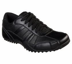 Skechers Elston Black Slip-Resistent Work Shoe 77038/BLK 07.5