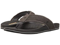 Skechers Emiro sandal charcoal relaxed fit thong sandal with a fabric toe post cushioned memory foam footbed08.0
