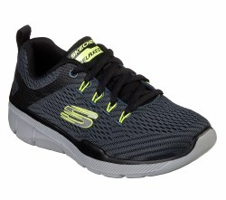 Skechers Equalizer Blue Black Boys Running Shoes Skech Knit Mesh nearly one piece athletic fabric upper 97922L/BLBK 7.0