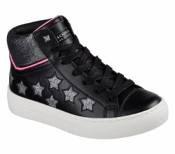 Skechers Funk It Out Black Silver Stars Hi Top Cool Classic Style4.0 B