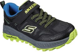 Skechers Fuse Treads Boys Running Shoes Black Blue Lime 011.