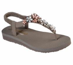 Skechers Glass Daisy Taupe Multi   Bejeweled slingback sandal 06.0