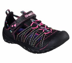 Skechers Girls sandals Glimmer Brights Black Multi Closed Toe Sandal012.