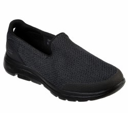 Skechers Go Walk 5 Sparrow Black lightweight responsive Ultra GO cushioning and goga mat insoles  08.5