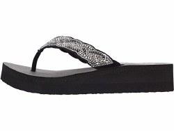 Skechers Happy Pearl Wedge Sandal Black 07.0