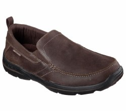 Skechers Harper Forde Dark Brown Slip on Casual 08.0