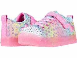 Skechers Girls Heart Burst Twinkle toes Multi color light up shoes , velcro straps011.