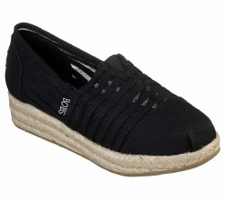 Skechers soft canvas fabric platform wedge slpip on casual espadrilles 07.0