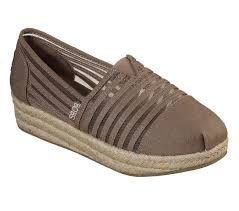 Skechers comfort wedge platform espadrille with memory foam10.0