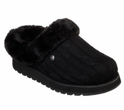 Skechers Bobs Keepsakes Ice Storms Soft Sweater Knit Fabric Upper And A Casual Comfort Clog Sliiper With Faux Fur Lining and Memory Foam Footbed06.0