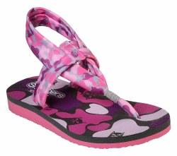 Skechers Kitty Zen Girls Sandal Grey Pink Yoga Foam Footbed 86917/GYPK 012.