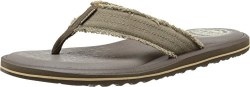 Classic style gets a new dimension of comfort with the SKECHERS Relaxed Fit®: Tantric - Lucian sandal. Soft woven canvas fabric upper in a casual comfort flip flop thong sandal with stitching accents and Memory Foam 360 comfort.. 07.0