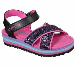 Skechers Girls Sandal Rockin it Prism Steps Black Multi 011.