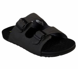 Skechers two strap slide sandal , birkenstock style , memory foam cushioned comfort footbed 08.0